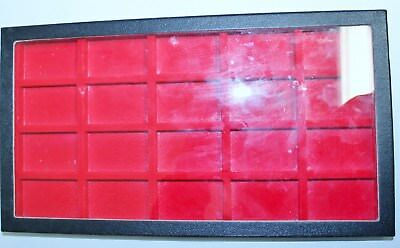 RED 20 Compartment Case for Zippo Lighter Jewelry Collectibles & More