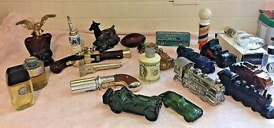 Lot of 22 Avon Men's After Shave Cologne Glass Decanter Bottle circa 1970's