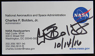 Charles bolden nasa administrator signed business card psa dna charles bolden nasa administrator signed business card psa dna guarantee auto colourmoves