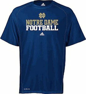 f15dd89517c Notre Dame Fighting Irish Climalite Official Football Sidelines Shirt by  Adidas
