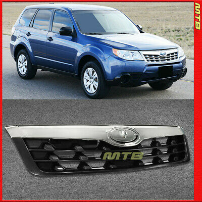 Chrome Silver Front Radiator Grille Grill For 09-10 Subaru Forester Upper Trim