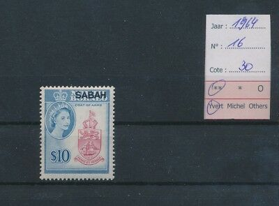 LI11098 Commonwealth Sabah overprint coat of arms lot MNH cv 30 EUR