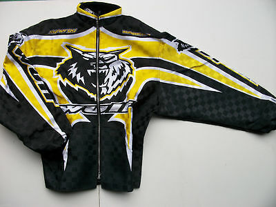 Adult Wulfsport Quad Karting Wulf MX Synergy Ride Jacket Yellow Clearance