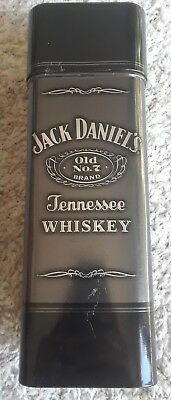 JACK DANIELS Old No7 Whiskey Collector Hinged Metal Tin Can 750ml Empty used