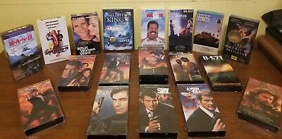 VHS lot of 17 plus 1 DVD Brand New - 007, Steven King, Gone with the Wind, more