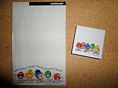 M&M / M&Ms New (2) Writing Paper - 1 Large 1 Small