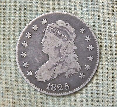 1825/4 Capped Bust Quarter - Very Good Details