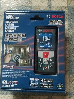 reduced !Bosch Blaze GLM 50 CX 165 ft. Laser Measure with Bluetooth! Brand New!