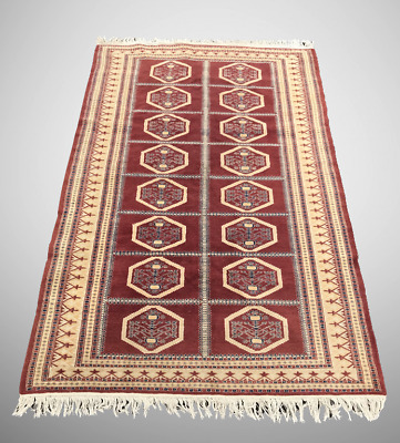 Old Hand Made Persian Rug Carpet Tapis Fait Main Alfombra Teppich - 200x128cm