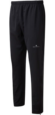 RONHILL Men's EVERYDAY TRAINING PANTS Lightweight Black Sports Running Trousers