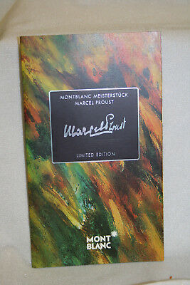 Montblanc Marcel Proust Booklet Owners Instruction Manual Book English