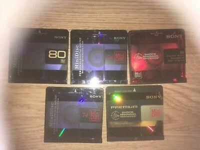 Lot Of 190 USED BLANK RECORDABLE MINIDISCS ALL BRANDS MOST HAVE CASES