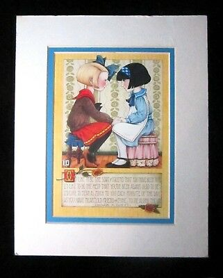 """Mary Engelbreit Matted Print """"I'd Like to Be the Sort of Friend ...""""    8x10"""""""