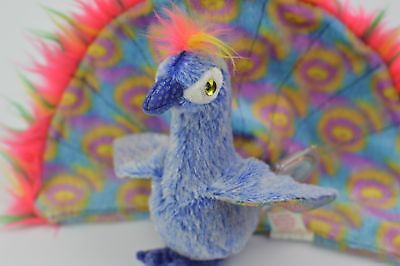 Peacock TY Beanie Baby Flashy Colorful  Flying Animal Plush Soft Poseable Toy
