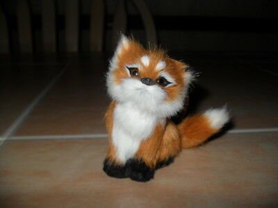 "Realistic Sitting Furry Fox 3"" Ornament ADORABLE!!!!"