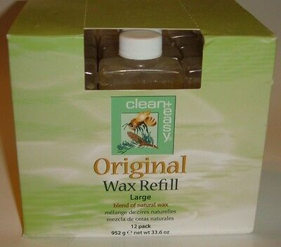 Clean+Easy 12 Pack Original Wax Refill Large