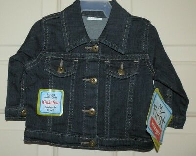 New Baby Boys 3-6 Months My First Wrangler Jean Jacket Dark Blue Denim