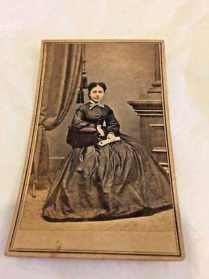 Antique Victorian Cabinet Photo, African American Woman, Mulatto, Beautiful, NY
