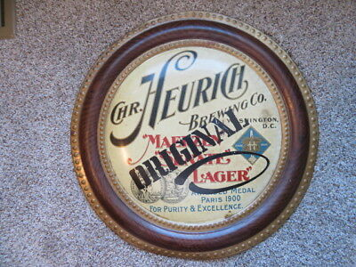 CHRISTIAN HEURICH Brewing Co, Washington, D. C. Pre Prohibition Self Framed Sign