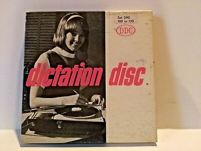 VTG Dictation Disc DDC Shorthand Speed Development 45RPM RECORDS From Set 390