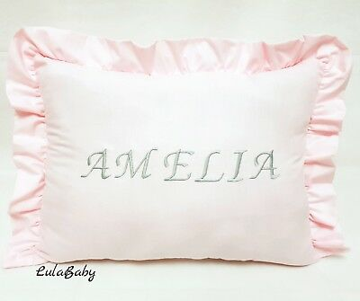 Personalised pillow baby name gift deco. Christening gift
