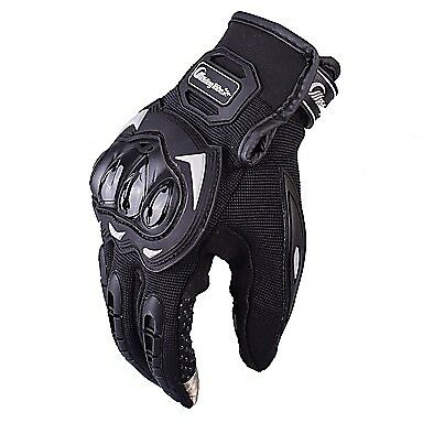 Motorcycle Riding Protective Gloves w/ Touch Screen | Full Finger BLACK