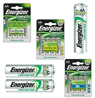 GENUINE ENERGIZER AA RECHARGEABLE BATTERIES NiMH 1300 2000 2500 mAh PRECHARGED