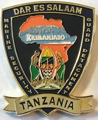 USMC MSG Marine Security Guard Detachment Dar Es Salaam, Tanzania Challenge Coin