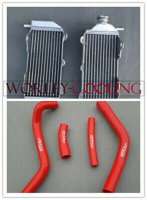 Aluminum Radiator & RED Hose for YAMAHA YZ250F YZF250 2014-2016 2015 14 15 16