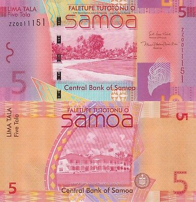 Samoa 5 Tala (2008/2017) - New Sign/Replacement Note/p38-New UNC
