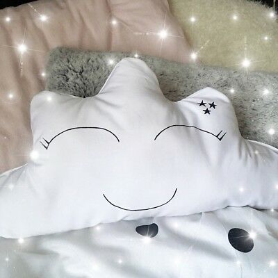 Cloud Shape Cushion White Pillow Decorative Baby Nursery Kids Bedroom Gift
