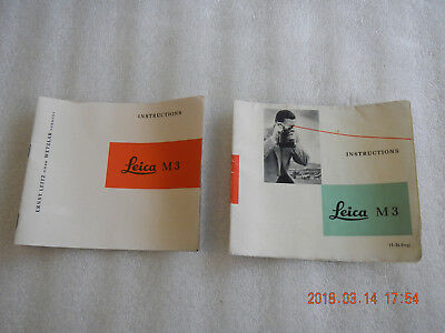 Vintage Leica M 3 Fold Out Instruction Manual 1960's Ernst Leitz Germany