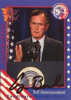 George Bush AUTHENTIC HAND signed sports card President