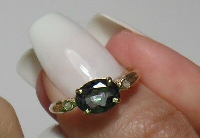 Antique Russian 10k Alexandrite Lovely Color Change Rare