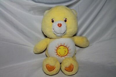 CARE BEAR Sunshine Bear Stuffed Toy Yellow 12 inch Character