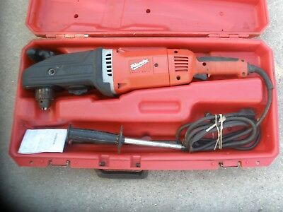 """Milwaukee 1680-20 1/2"""" Super Hawg Heavy Duty Corded Drill 2-Speed Right Angle"""