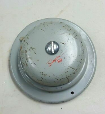 Vintage Simplex Time Recorder Co Fire Alarm Bell Type 4017-62 Industrial Ringer