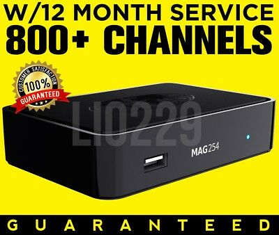 NEW MAG 256 IPTV Set-Top-Box w//12 Month Service GUARANTEED FAST SHIPPING