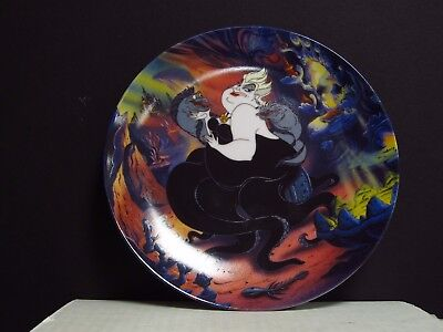 1993 Bradford Exchange Disney The Little Mermaid Ursula Limited Edition Plate