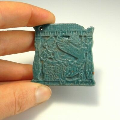 VF Isis Amulet Faience Ancient Pendant Pectoral EGYPTIAN EGYPT Protection Luck