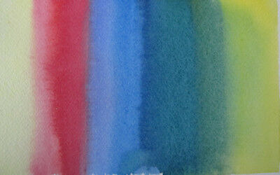 SPLASH colour WATERCOLOUR hand PAINTED hobby CRAFT red YELLOW blues GREEN art