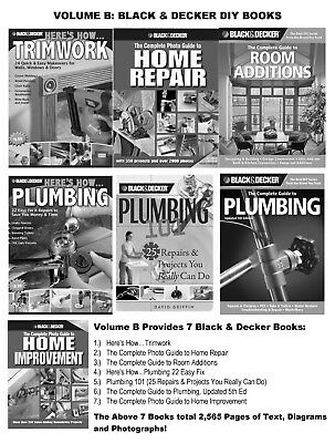 39 BOOK SET: In 5 Volumes (A-E) BLACK & DECKER Home Improvement DIY NO RESERVE!