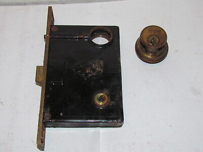 Vintage Antique Russwin Entry Door Mortise With Lock Cylinder #4