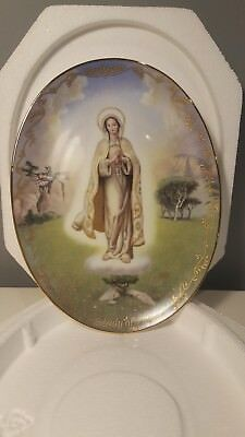 "Virgin Mary, set of 5 ""Visions of our Lady""  series Bradford Exchange Plates"