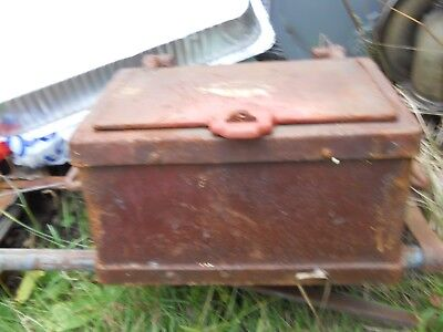 Antique Strong Box - Stage Coach type – Heavy