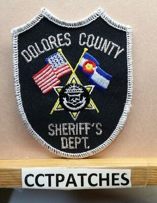 Dolores County, Colorado Sheriff (Police) Shoulder Patch Co