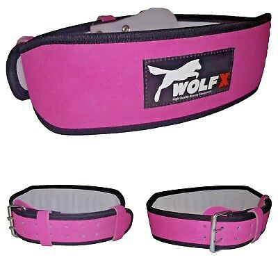 Wolfx Women Leather Weight Lifting Belt Back Support Ladies Gym Training Fitness