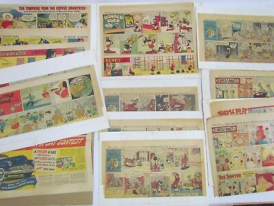 1950s Color Comics w/ Ads from Midwest Newspapers ft. Disney, Bailey, Sawyer etc
