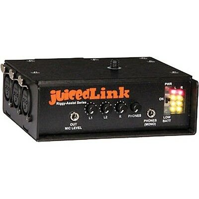 JuicedLink RA333 Riggy Assist 3XLR Low-Noise Preamp for DSLR Cameras