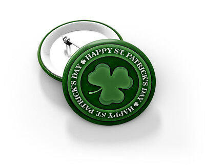 St. Patrick's Day Badge 58mm - BRAND NEW